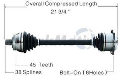 Picture of Audi A6 Left Front CV Shaft 98-04 4B0407271F